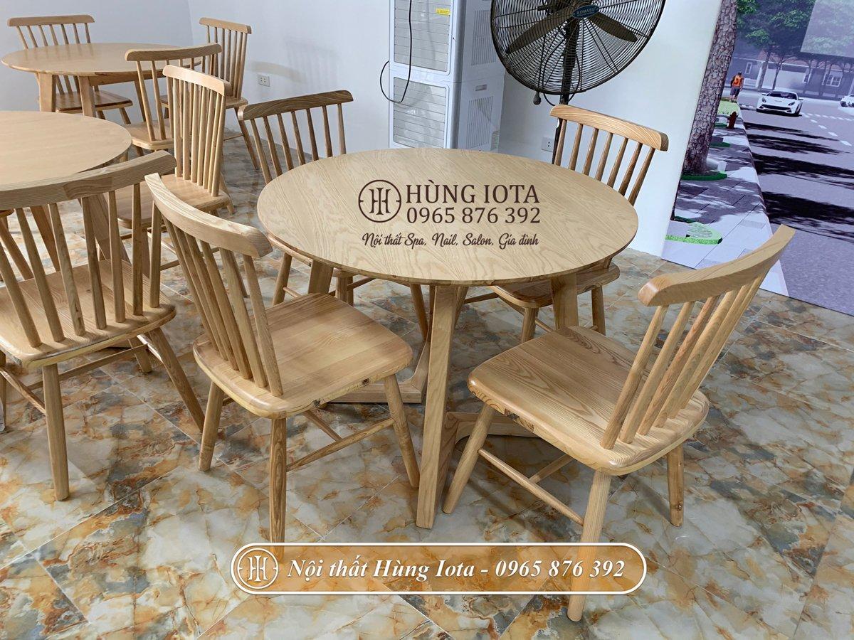 Bộ bàn ghế tiếp khách decor đơn giản