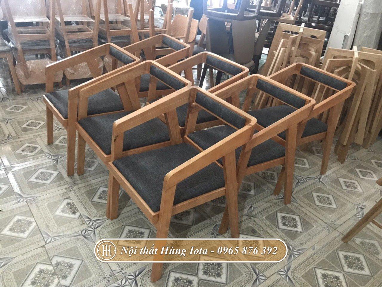 Ghế gỗ quán cafe có tựa giá rẻ