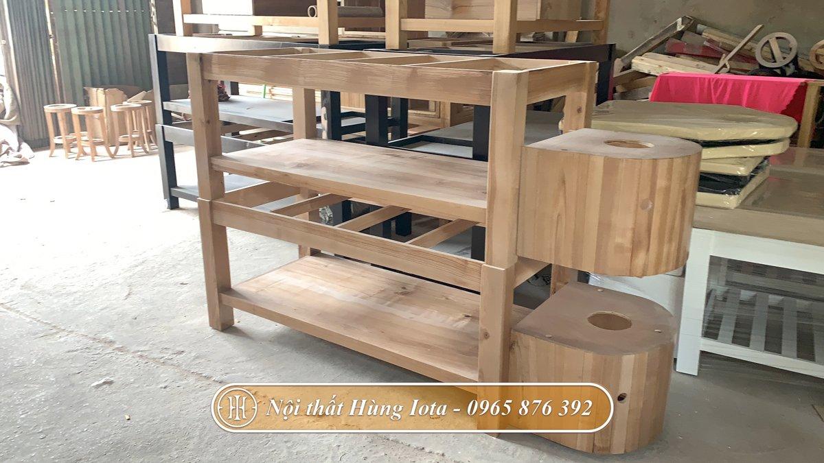 Giường gội massage sản xuất tại xưởng