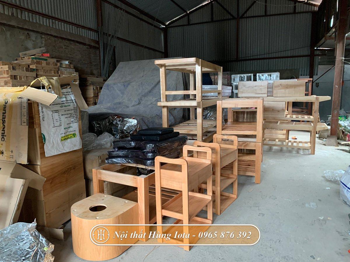 Giường gội sản xuất tại xưởng