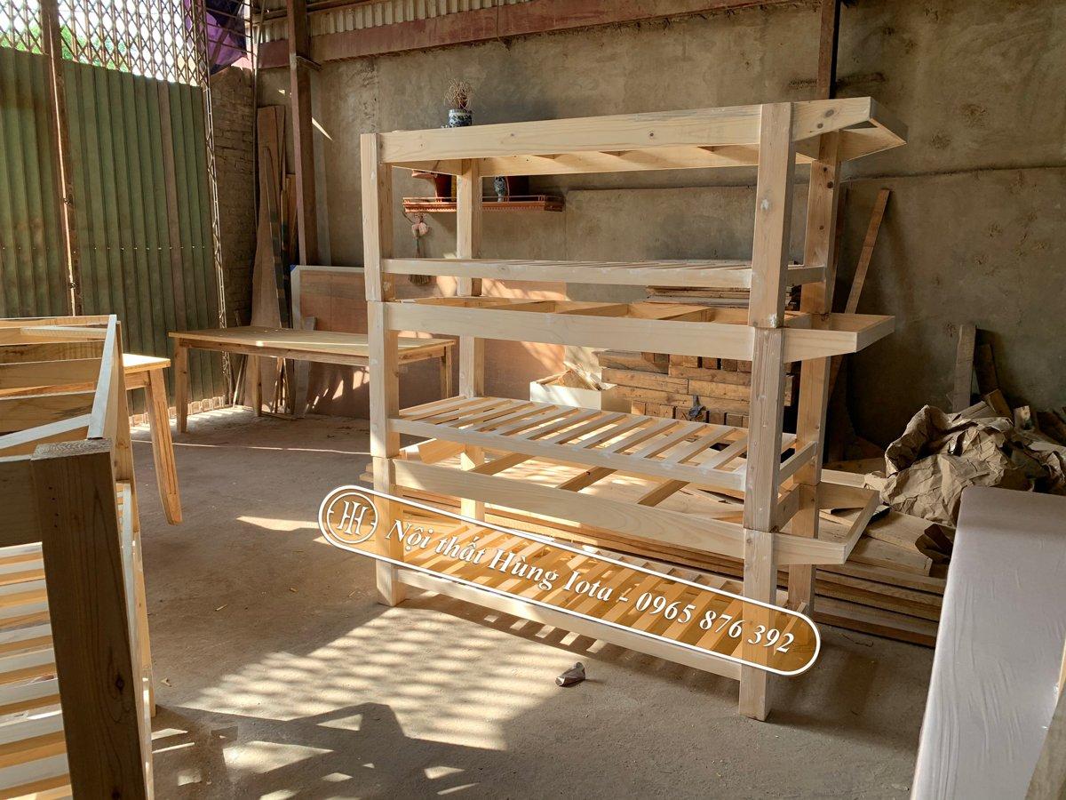 Giường massage gỗ thông chất lượng cao