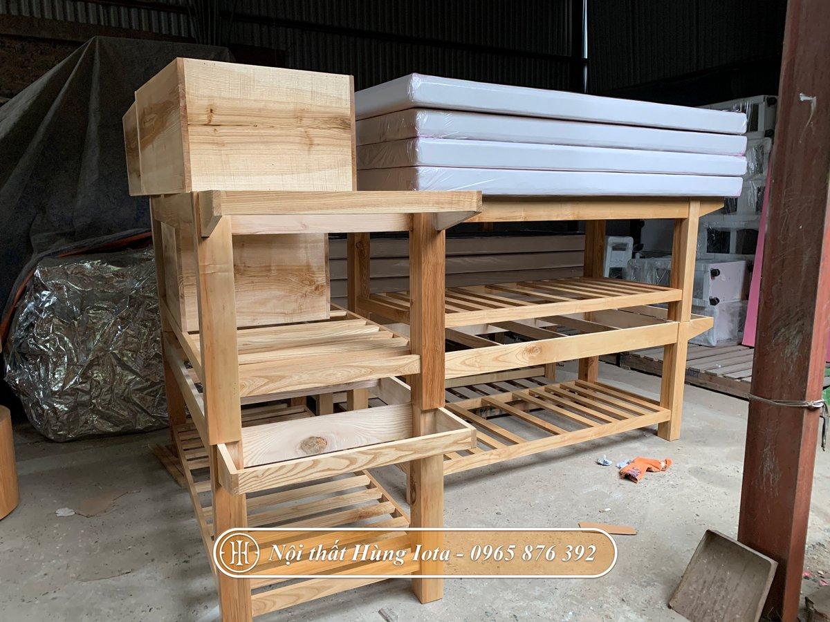 Giường spa gỗ đẹp giá rẻ tại xưởng