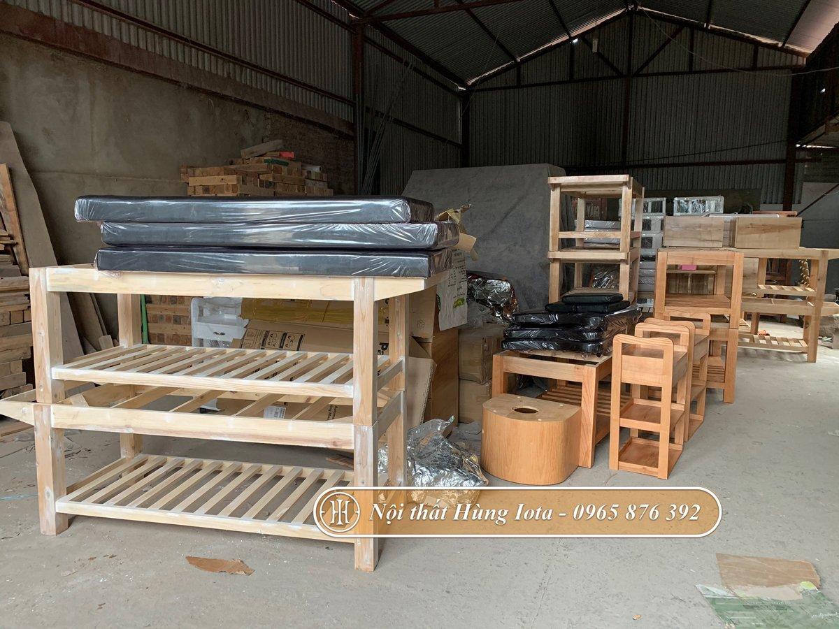 Giường spa sản xuất tại xưởng nội thất