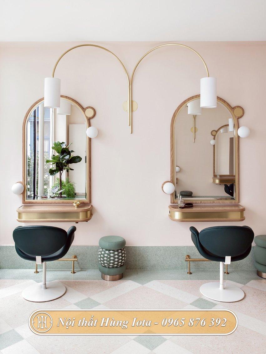 Hệ thống gương cắt tóc cho salon