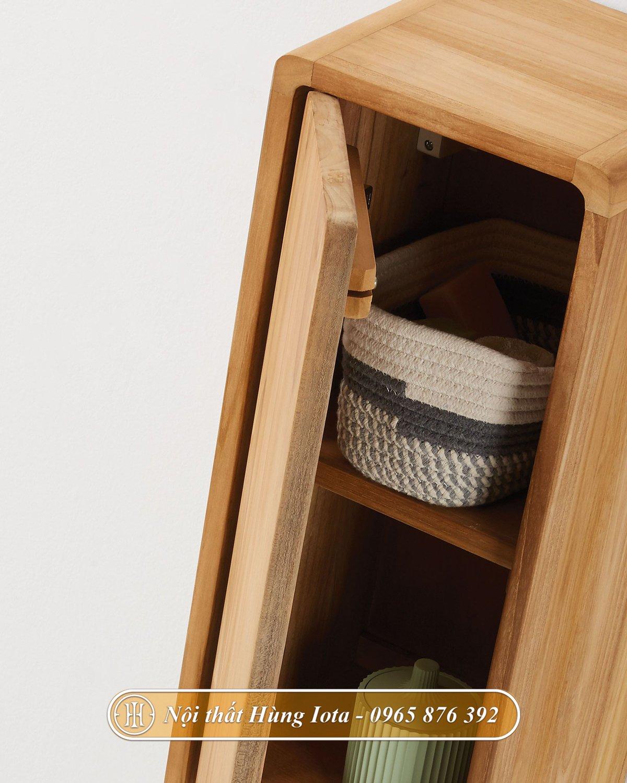 Kệ đựng đồ bằng gỗ hình chữ nhật