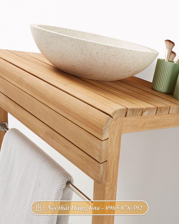 Kệ gỗ để bồn rửa mặt lavabo