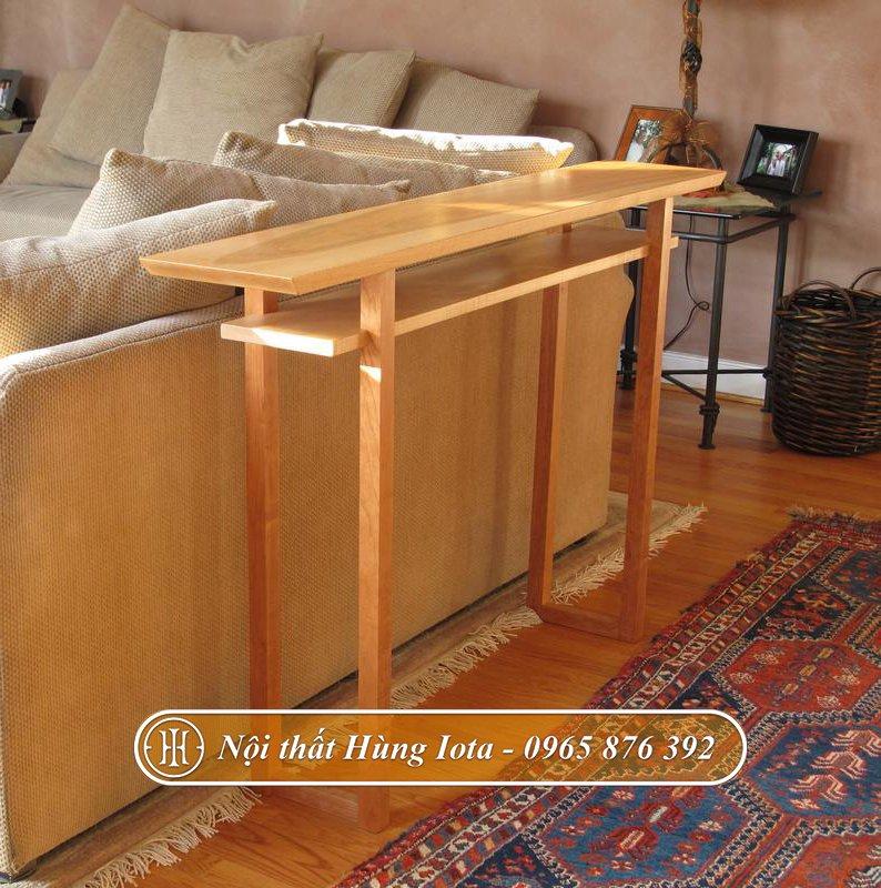 Kệ gỗ decor phòng khách gia đình