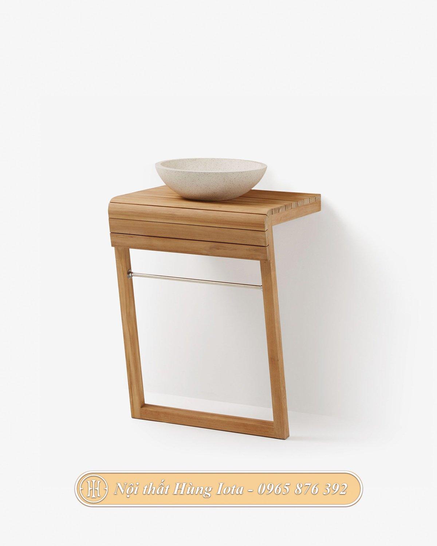 Kệ gỗ đựng bồn lavabo cho phòng tắm