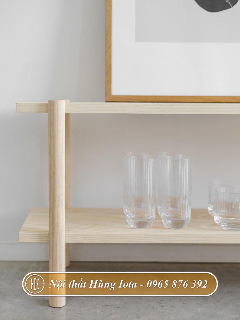 Kệ gỗ hai tầng giá rẻ chất lượng