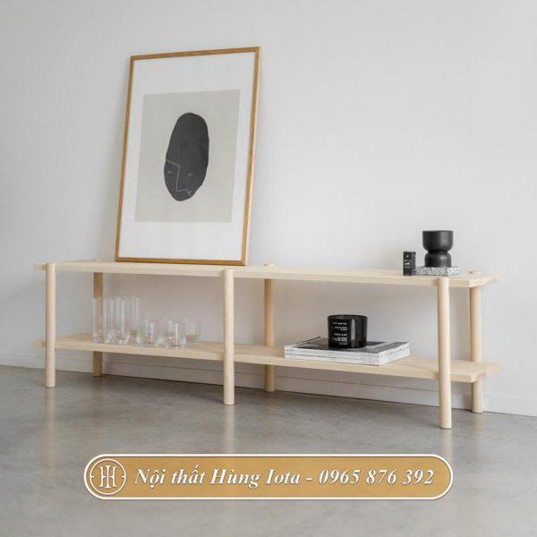 Kệ gỗ trang trí phòng đơn giản
