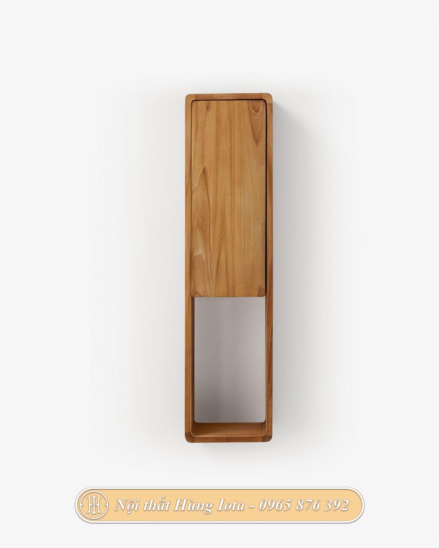 Kệ treo tường bằng gỗ đựng đồ nhỏ gọn