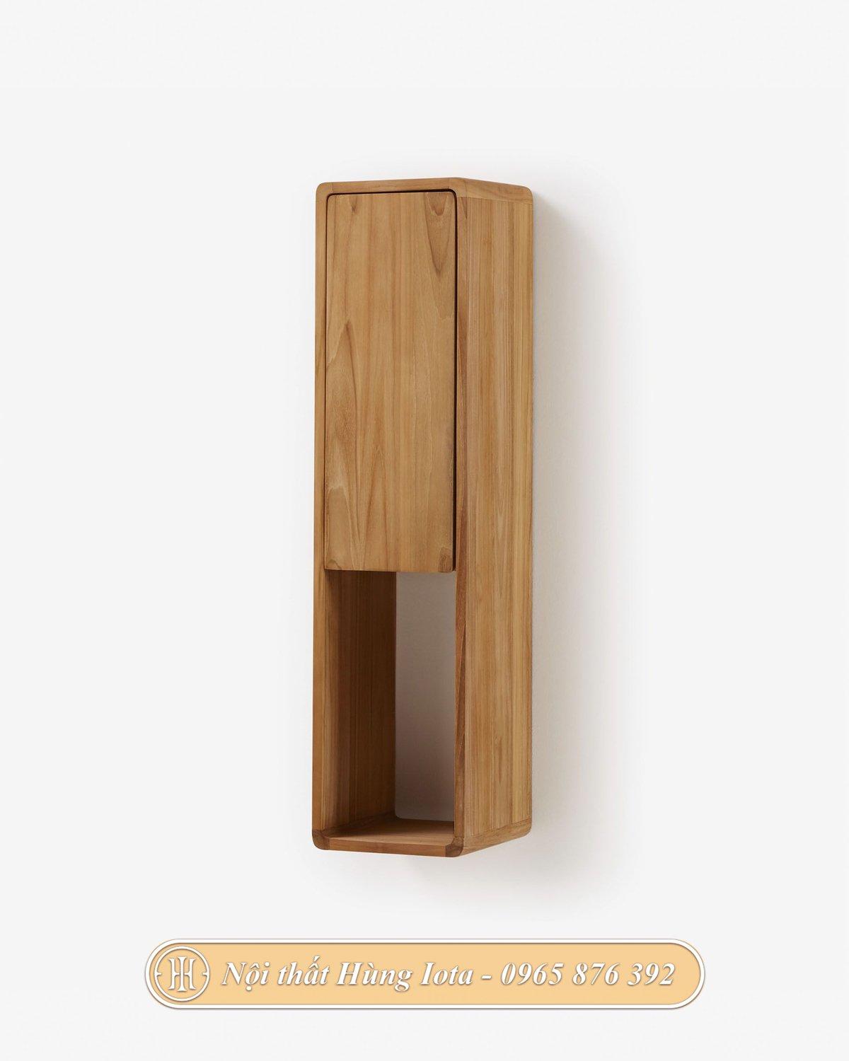 Kệ treo tường decor màu gỗ tự nhiên