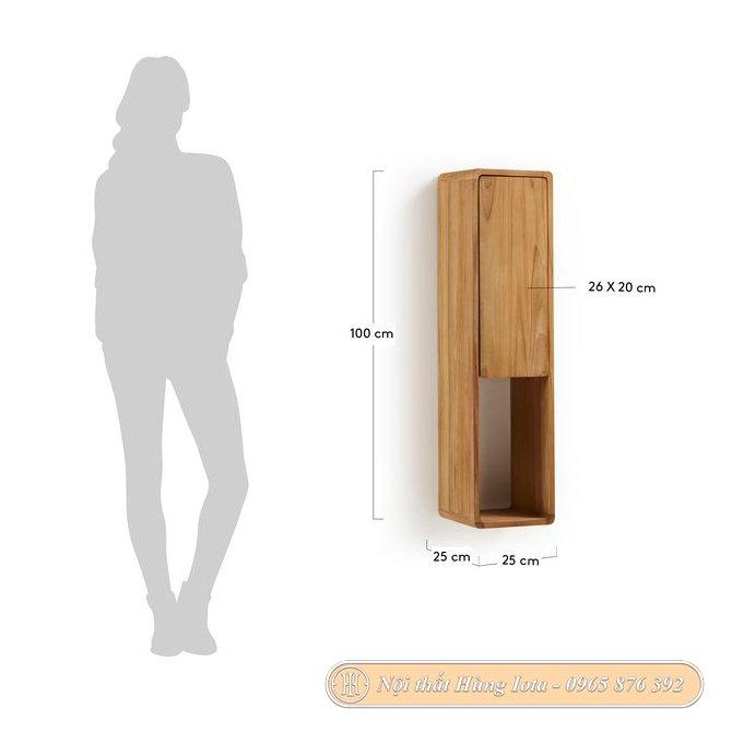 Kích thước kệ gỗ treo tường