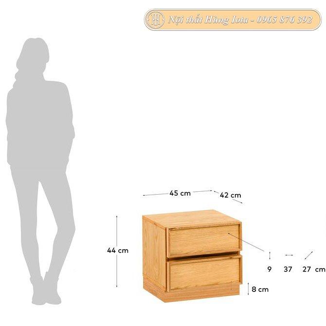 Kích thước tab đầu giường 2 tầng