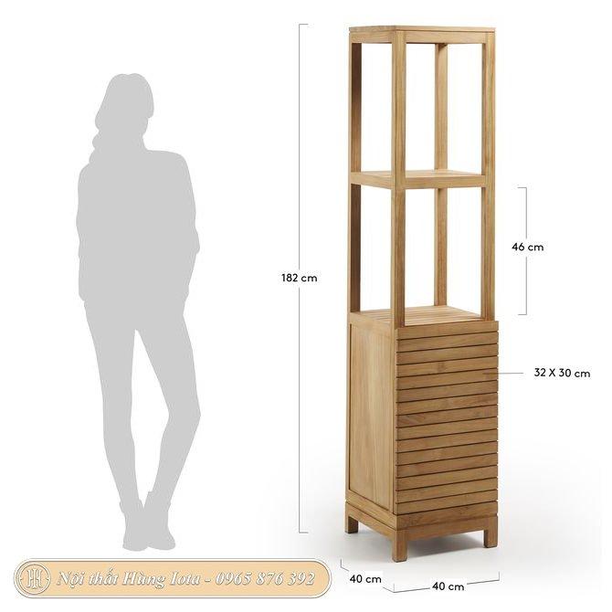 Kích thước tủ gỗ đựng đồ gia đình