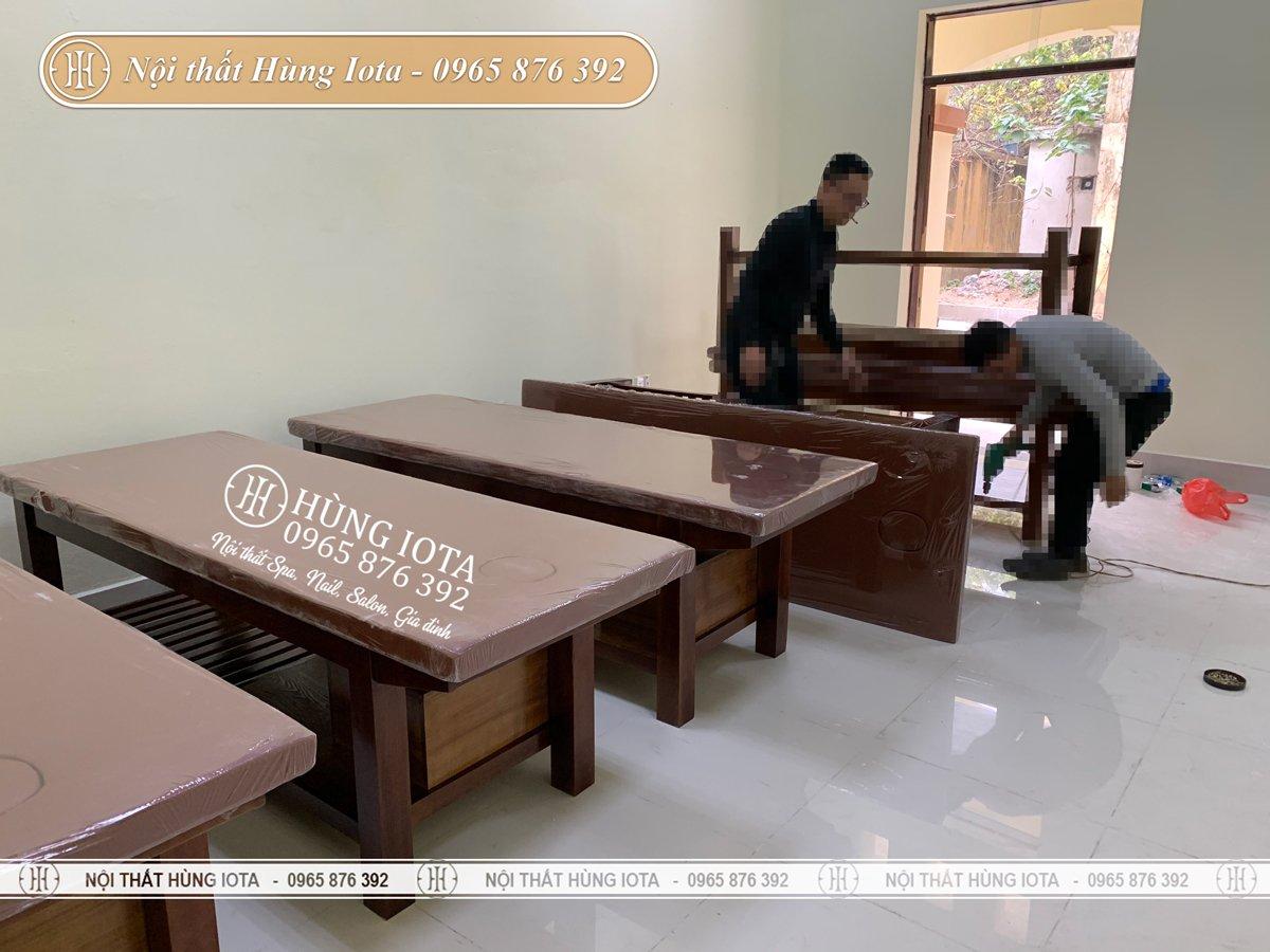 Setup giường massage tại Bắc Ninh