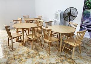 thumb bàn ghế tròn decor tại Hòa Bình