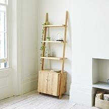 Kệ gỗ bốn tầng có tủ giá rẻ chất lượng cao KG15
