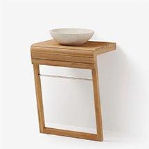 Kệ gỗ đựng bồn rửa lavabo decor phòng tắm thiết kế thông minh KG19