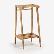 Kệ gỗ đựng khăn nhà tắm 2 tầng nhỏ gọn giá rẻ hợp xu hướng KG18