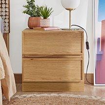 Tab gỗ đầu giường decor phòng ngủ 2 tầng đẹp nhỏ gọn TDD34