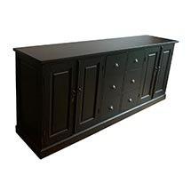 Tủ đựng bát đĩa bằng gỗ màu đen mẫu mã sang trọng hiện đại TDD27