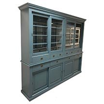 Tủ trưng bày sản phẩm có cửa kính trượt màu xanh dương giá tốt TSP51