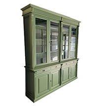 Tủ đựng đồ đa năng nhiều ngăn có cửa kính màu xanh sẫm TSP50