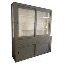 Tủ đựng sản phẩm cho cửa hàng đa tính năng màu xám giá rẻ TSP71