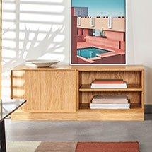Tủ gỗ đựng đồ đa năng 4 ngăn decor phòng khách, phòng ngủ TDD36