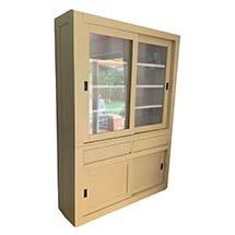 Tủ gỗ màu be 4 tầng nhỏ gọn có cửa trượt tiện dụng giá rẻ TSP76