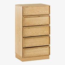 Tủ gỗ nhỏ 5 tầng decor không gian màu gỗ tự nhiên đẹp tinh tế TDD35