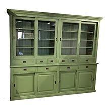Tủ kính nhiều ngăn giá rẻ màu xanh lá phù hợp với mọi không gian TSP52