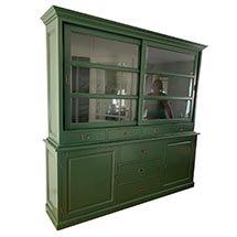 Tủ kính trưng bày cửa trượt màu xanh đậm sang trọng giá tốt TSP66