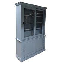 Tủ kính trưng bày mỹ phẩm 4 tầng màu xanh lam giá rẻ TSP48