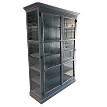 Tủ kính trưng bày phòng khách 6 tầng màu xám giá rẻ TSP46
