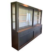 Tủ kính trưng bày sản phẩm cho cửa hàng màu xám thanh lịch TSP60