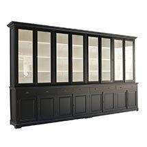 Tủ kính trưng bày sản phẩm size lớn màu đen đẹp hiện đại TSP34
