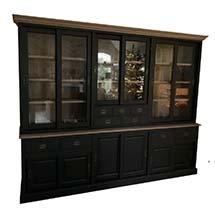 Tủ phòng khách nhiều ngăn màu đen thiết kế sang trọng giá tốt TSP83