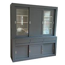 Tủ quần áo cửa trượt 4 tầng màu xám giá rẻ kiểu dáng hiện đại TSP81