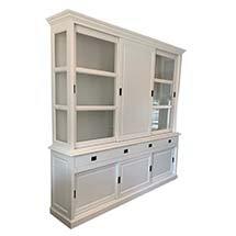 Tủ quần áo decor phòng ngủ có cửa trượt màu trắng tinh tế TSP69