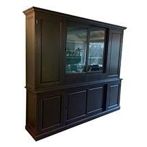 Tủ quần áo gỗ thông màu xám đen mẫu mã hiện đại giá rẻ TSP84