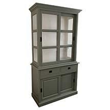 Tủ trang trí tiệm nail nhỏ gọn đơn giản màu xanh rêu giá rẻ TSP62