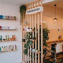 Vách ngăn cho salon tóc, spa đẹp giá rẻ thiết kế đơn giản VNP03