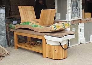Thumb vận chuyển giường gội spa màu gỗ về Thanh Hóa