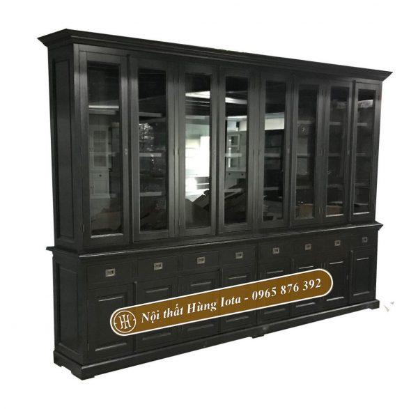 Tủ đựng đồ đa năng nhiều ngăn màu đen sang trọng