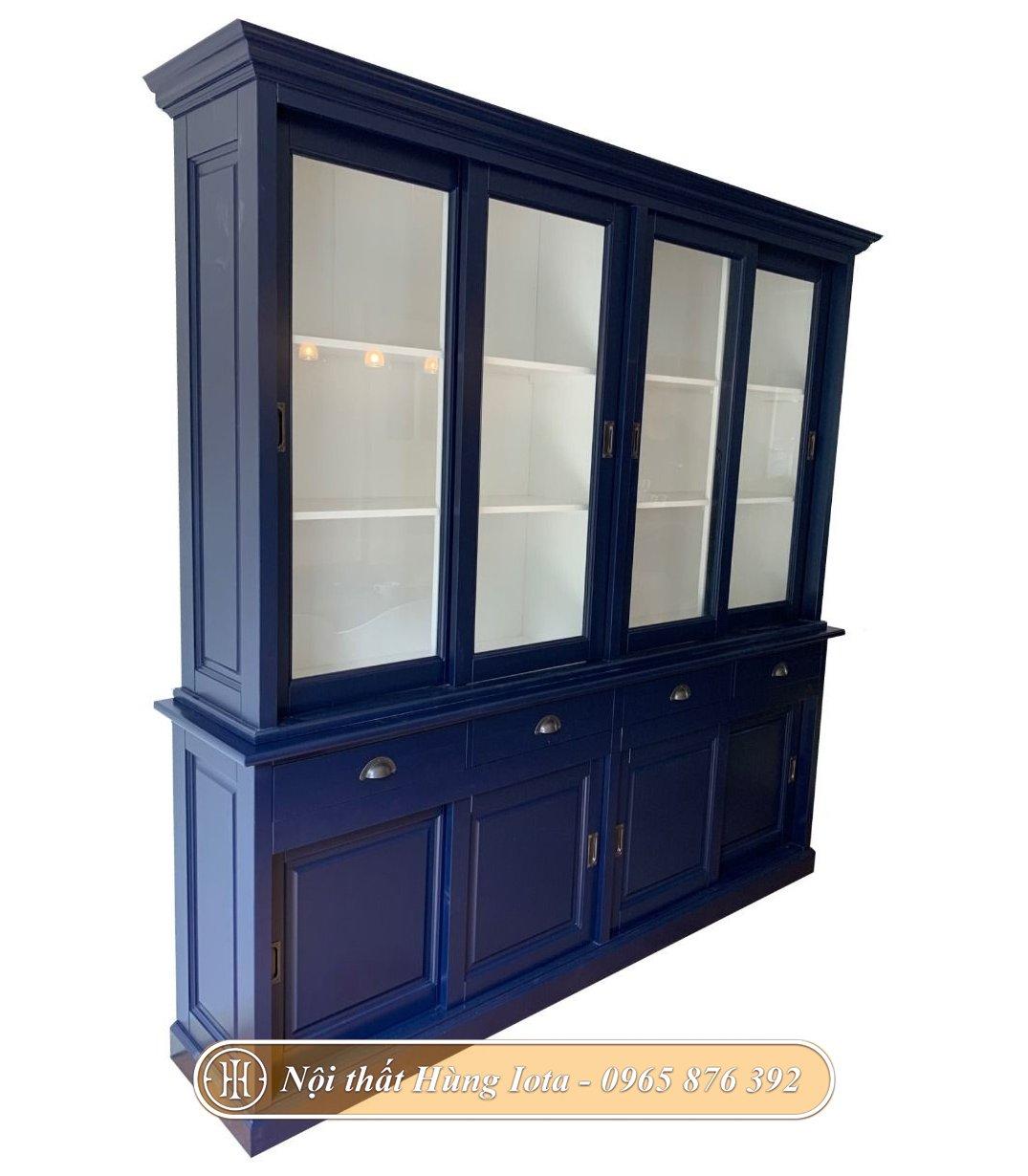 Tủ đựng đồ decor spa màu xanh navy sang trọng