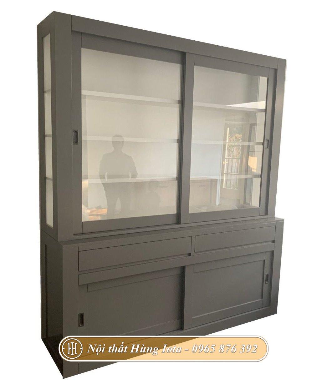 Tủ đựng sản phẩm cho cửa hàng màu xám giá rẻ