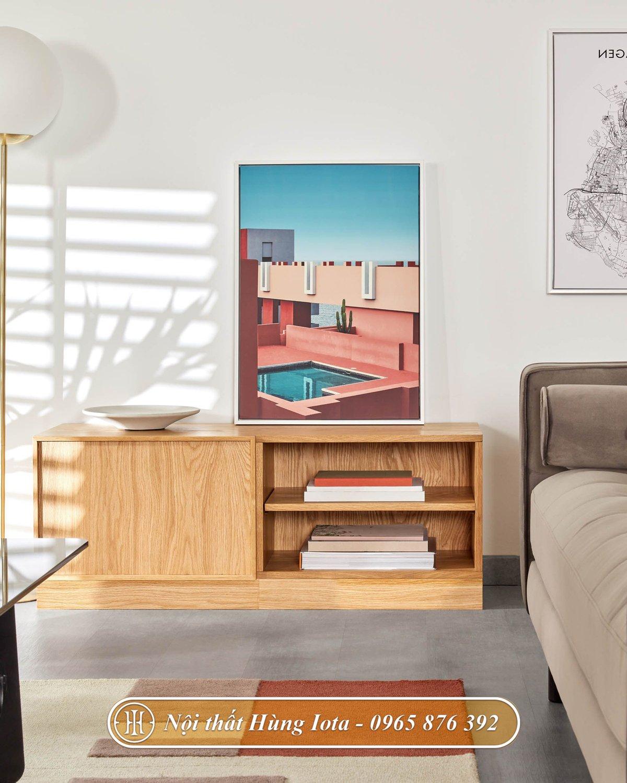 Tủ gỗ đa năng thiết kế đơn giản hiện đại