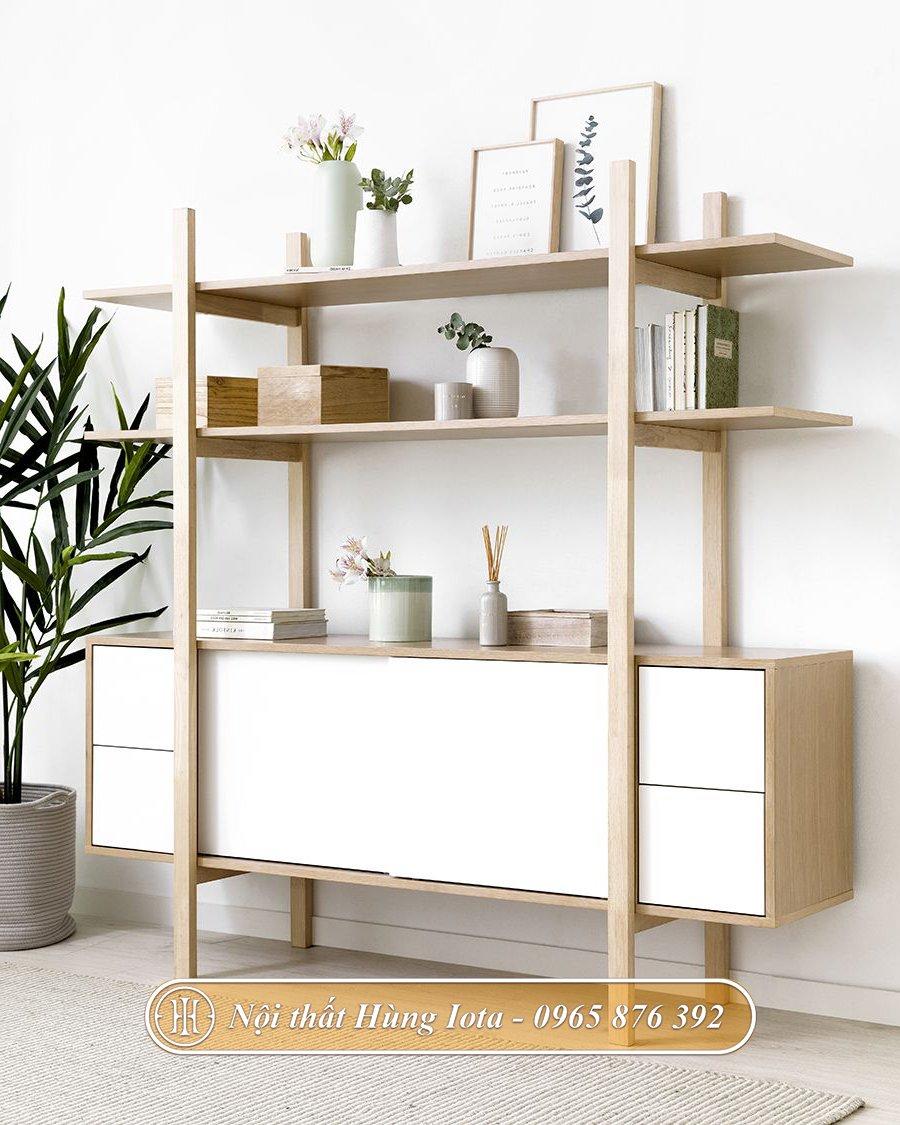 Tủ gỗ decor nhiều công dụng